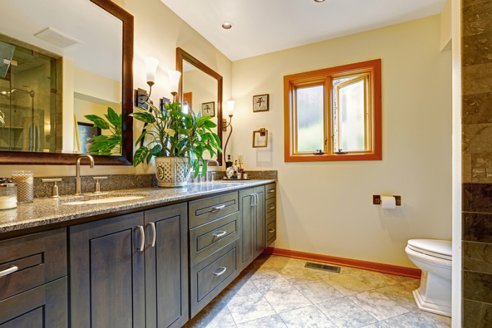 Examples of Bathroom Cabinets after Refacing